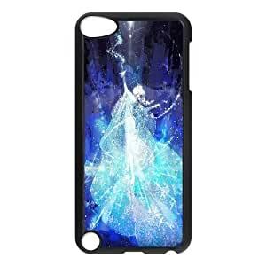 Ipod Touch 5 Case Elsa Frozen Cute for Girls, Apple Ipod Touch 5 Case Bloomingbluerose, [Black]