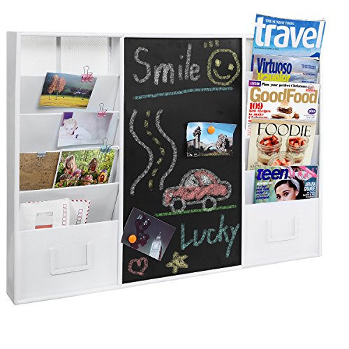 Mounted Message Chalkboard Document Organizer
