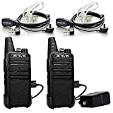 Retevis RT22 Two Way Radio UHF 400-480MHz 16 CH VOX Walkie Talkies(2 Pack)