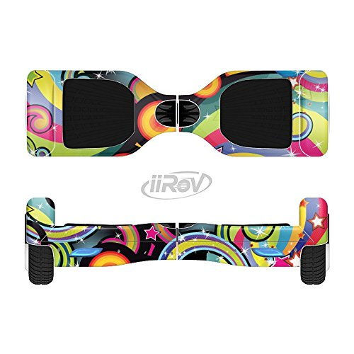 The Vibrant Fun Sprouting Shapes Full-Body Wrap Skin Kit for the iiRov HoverBoards and other Scooter (HOVERBOARD NOT INCLUDED)
