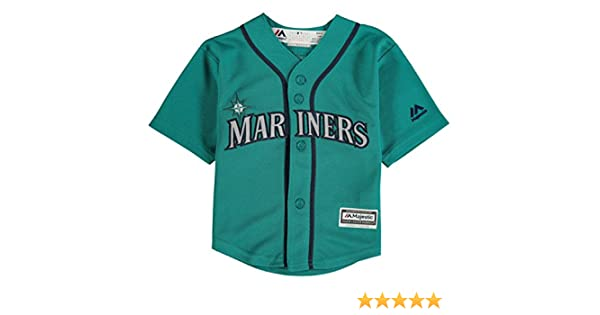 983eb36f0 Amazon.com   Seattle Mariners Alternate Teal Cool Base Infant Jersey (24  Months)   Sports   Outdoors