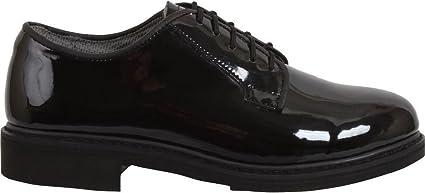 Black High Gloss Shiny Oxfords Uniform Shoes dress military uniform duty df2b23c916e