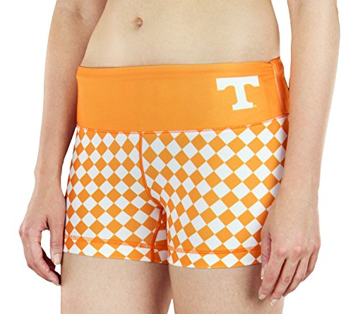 (NCAA Womens Tennessee Volunteers Thematic Print Bootie Shorts, Orange)