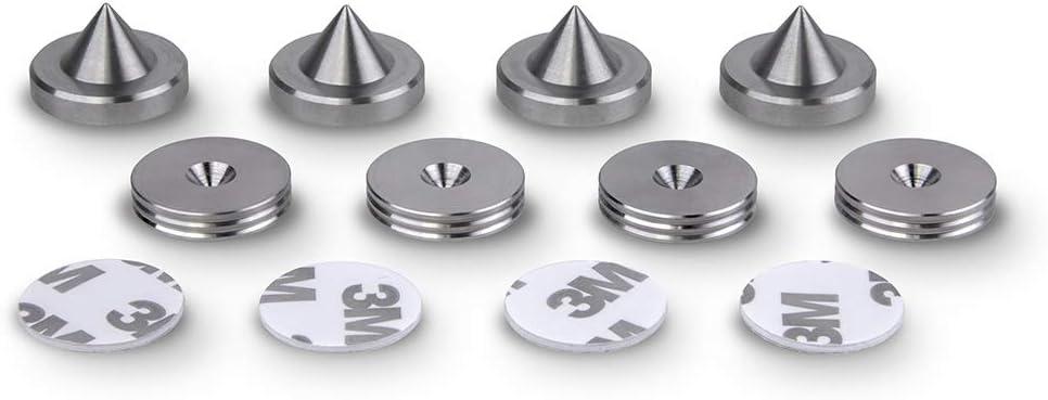 piedino 4 pz PrecisionGeek Acciaio inossidabile 20mm Spike//Cono absorber per altoparlanti vite