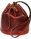 Southlife Supply Co. Women's Brick Drawstring Bucket Bag Mahogany One Size