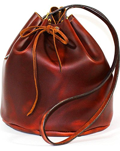 Southlife Supply Co. Women's Brick Drawstring Bucket Bag Mahogany One Size by SouthLife Supply Co.