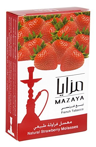 Mazaya Shisha Hookah Molasses Premium Flavors 200g for Hookah (Strawberry)