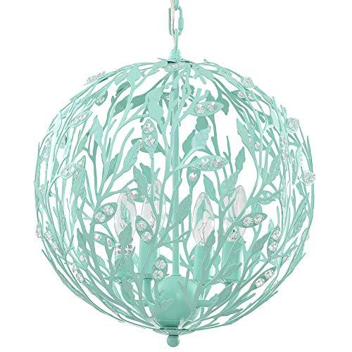 (Luna Light Fixture in Turquoise, 15-Inches Diameter, 4-Light)