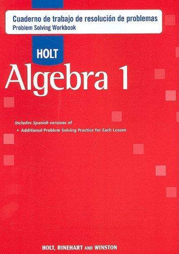 Descargar Libro Holt Algebra 1: Cuaderno De Trabajo De Resolucion De Problemas Holt Rinehart & Winston
