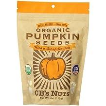CB's Nuts Organic Pumpkin Seeds, 4 Ounce