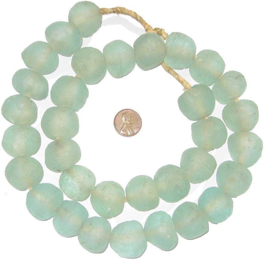 Aqua African Sea Glass Beads