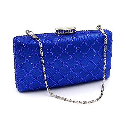 Banquet Bag Rabbit Party Bag Bag Hand Cosmetic Blue Purse Color Black Stylish Clutch Women Clutch Lovely Evening Prom qAwxHF77