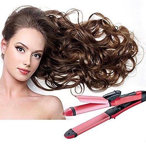 Vinmax 2 in 1 Curler & Straightener Hot Hair Iron Curling...