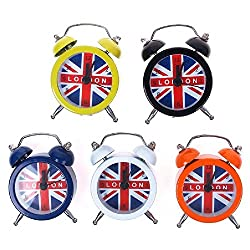 Eachbid Smart applied New England UK Flag London Lovely Mini Dial Number Round Desk Alarm Home Clock
