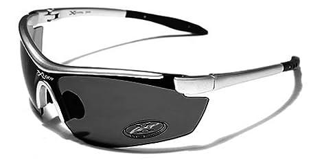X-Loop Lunettes de Soleil - Sport - Cyclisme - Ski - Running - Tennis - Squash - Moto / Mod. 035P Gris Noir lLnh95d4tc