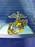 united states marine corps decal - USMC United States Marine Corps Emblem Vinyl Decal Sticker | Cars Trucks Vans Walls Laptops Cups |Printed | 5 X 4.5 inches | KCD143