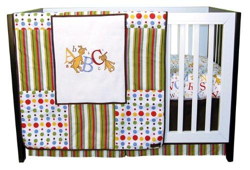 Trend Lab Dr Seuss 3 Piece Crib Bedding Set, ABC