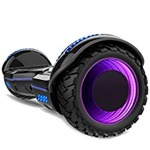 Gyrocopters 8FINITI All Terrain Hoverboard with Mirror LED Wheels, Bluetooth, No Fall Technology and UL2272 Certified – Black