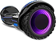 Gyrocopters 8FINITI All Terrain Hoverboard with Mirror LED Wheels, APP, Carry Case, Bluetooth, No Fall Technol