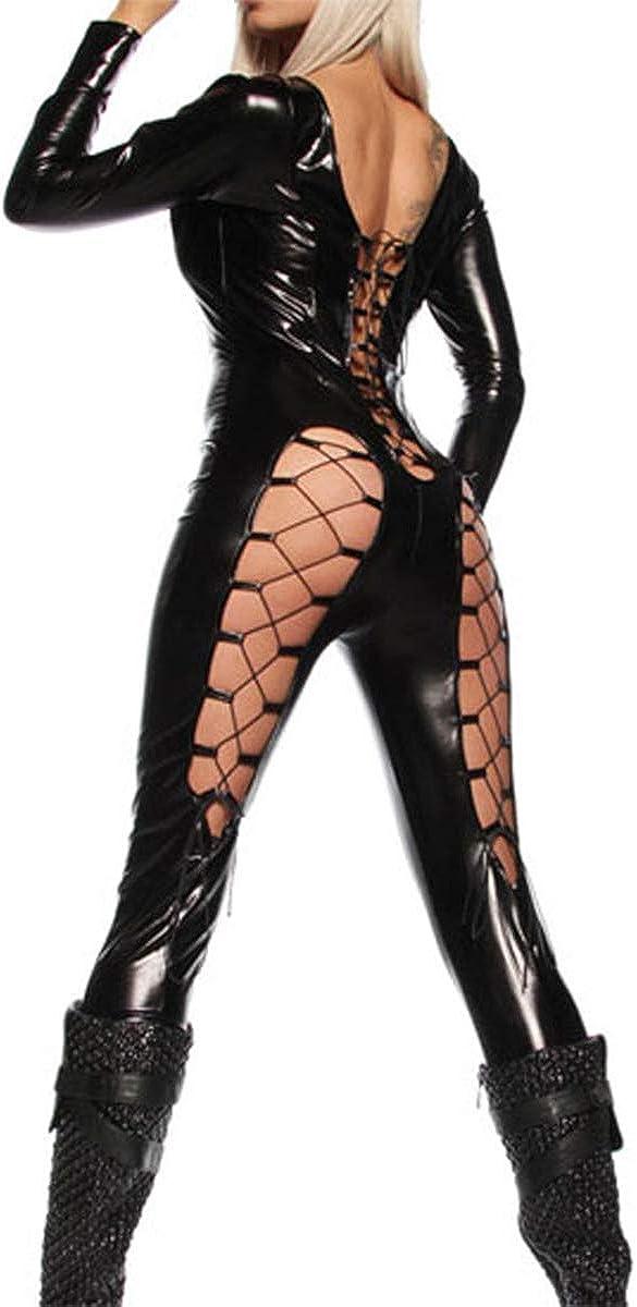 Lace Butt Cheeks Wetlook Bodysuit Fetish Catsuit Lingerie Black 568