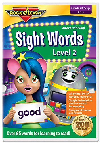 Sight Words Level 2 DVD by Rock 'N Learn: 65+ words includes all primer Dolch words and many Fry words (Words Dvd Sight)