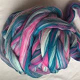 Maslin Mixture Merino Wool for Felting Wool roving Fiber 50g 100g 200g 300g 500g 1000g Perfect in Wet and Needle Felting no.103 - (Color: 500g)