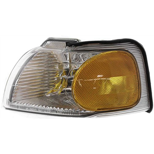 DAT 96-97 FORD THUNDERBIRD MERCURY COUGAR FRONT PARKING SIGNAL LIGHT LENS HOUSING CORNER OF FENDER LEFT DRIVER SIDE (Thunderbird Drivers Side Parking Light)