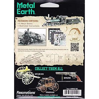 Fascinations Metal Earth Wild West 2-6-0 Locomotive 3D Metal Model Kit: Toys & Games