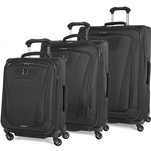 Travelpro Maxlite 4 3-Piece Expandable Spinner Set: 21 , 25 , and 29 Spinners Black