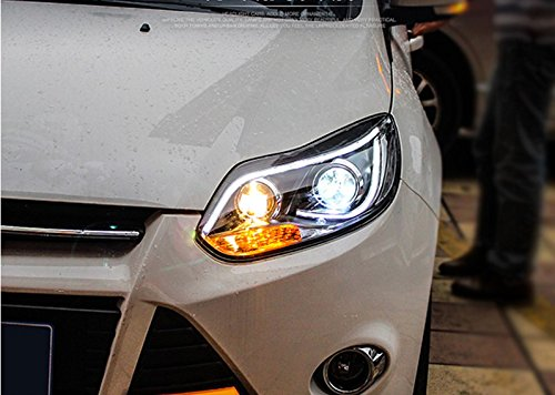GOWE Car Styling For Ford Focus headlights For 2012 2013 2014 Focus head lamp led DRL front Bi-Xenon Lens Double Beam HID KIT Color Temperature:4300k;Wattage:55w 2