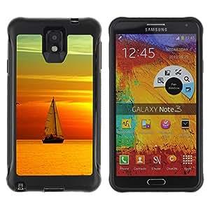 Pulsar Defender Series Tpu silicona Carcasa Funda Case para SAMSUNG Galaxy Note 3 III / N9000 / N9005 , Sunset Ship Beautiful Nature 6