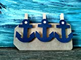 Navy Anchor Nautical Clothespins Baby Shower Decoration Don't Say Baby Game Clips 12 Pins Beach Wedding Decoration Photo Display Navy Diaper Cake Wedding Party Favors Drink Marker Place Card
