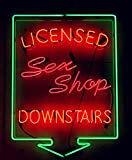 Mirsne neon signs, glass tube neon lights, 24'' by 20'' inch Licensed Sex Shop neon signs bar, the best neon sign custom supplied for a wide range of personal uses.