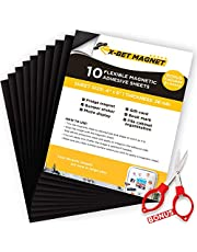 """Magnetic Sheets with Adhesive Backing - 10 PCs each 4"""" x 6"""" - Flexible Magnetic Paper for Craft and DIY - Peel and Stick Magnet Sheets for Picture and Photo Magnets"""