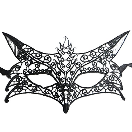 Comfortable Costumes For Men (Fox Shape Hollow Out Lace Halloween Evening Party Prom Masquerade Mask Lace Mask)