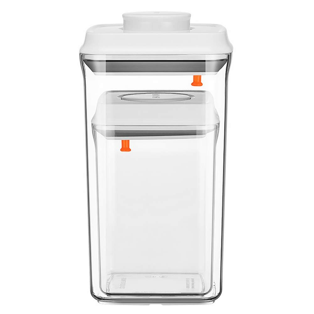 Square Milk Powder Storage Container Set - Airtight Food Storage Containers with Lids BPA-Free for Cereal & Snacks Keeps Food Fresh & Dry,2000+900ML