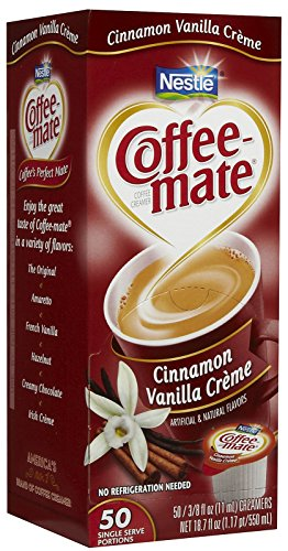 (Coffee-mate Liquid Creamer Singles - Cinnamon Vanilla Creme - 50 ct)