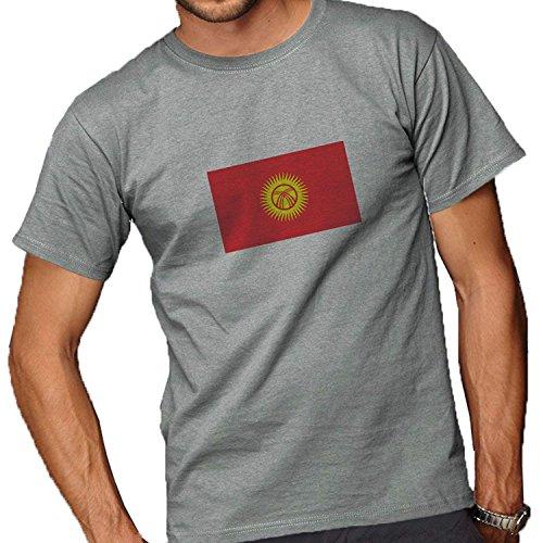 Kyrgyzstan Flag Adult Short Sleeve T Shirt For Men