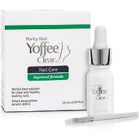 Yoffee Clear Purity Nail– Tratamiento de Uñas de los hongos, Apto para dedos y pedicura, con árbol de té y aceite de argán, 10 ml