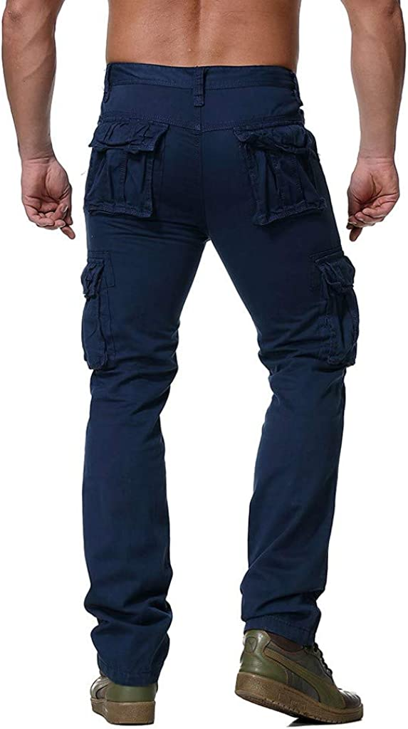 Mens Premium Relaxed Fit Straight Leg Omfort Stretch Ripstop Outdoor Cargo Pant Pockets