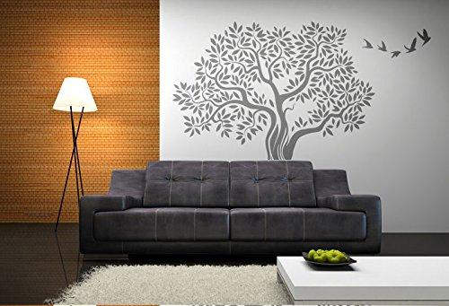 Big Oak Tree /& Birds Reusable Stencil A3 A4 A5 /& Bigger Sizes Shabby Chic T61 PVC Reusable Stencil, A4 Size - 210 x 297 mm, 8.3 x 11.7 in
