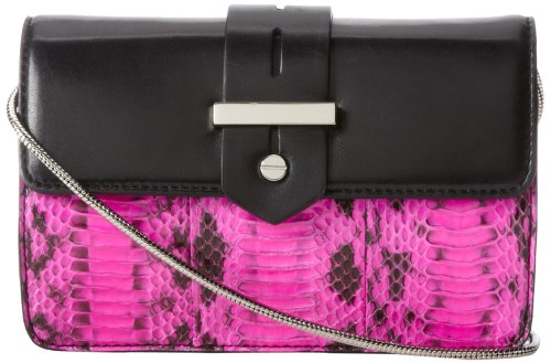 MILLY Makenna Watersnake Mini Cross Body Bag,Pink,One Size, Bags Central