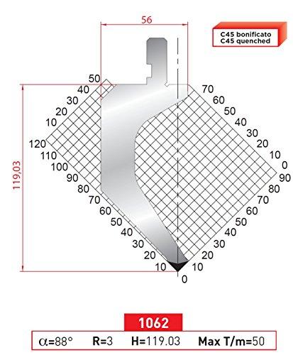 EURO - AMADA TYPE PRESS BRAKE PUNCH ES-1062 16,33 INCH 415 MM - Eurostamp (Press Brake Punch)