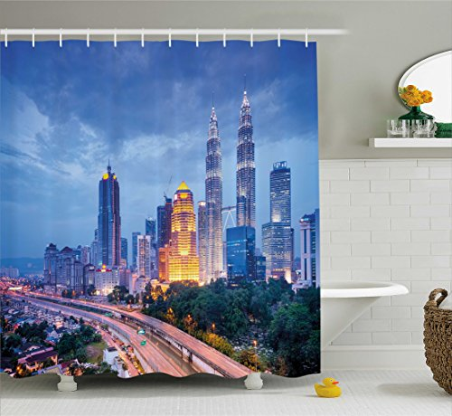 urban-shower-curtain-by-ambesonne-kuala-lumber-sunrise-high-skyscrapers-by-the-road-skyline-town-sou