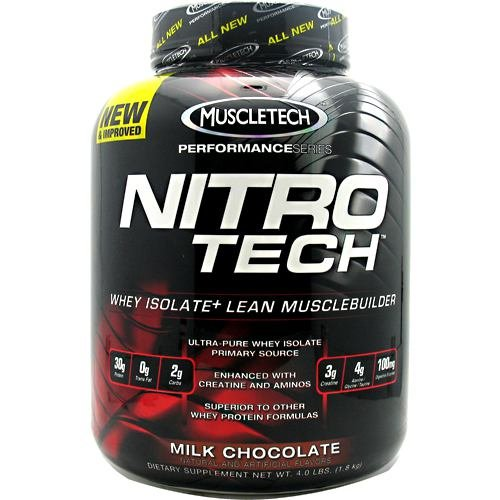 - MuscleTech NitroTech Performance Series Whey Isolate Chocolate 4lb