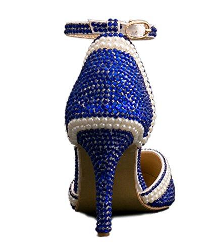 5 36 Heel MZ8293 MinitooEU Minitoo Blue 9cm EU White pour Escarpins Femme zv8axw8