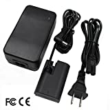 ACK-E6 AC Power Adapter Replaceme DR-E6 DC Coupler Charger Kit for Canon EOS 5D Mark II III, 6D, 7D, 60D DSLR 60Da XC10 BG-E14 BG-E13 BG-E11. LP-E6/LP-E6N Battery LC-E6 LC-E6E Fully Decoded.