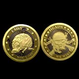 Death or Live Skeleton Coin Sniper Gold Plated Metal Army Challenge Coin