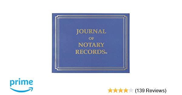 Amazon StampXpress Premium Notary Journal Softcover 140 Pages With 600 Entries All States NJ Office Products