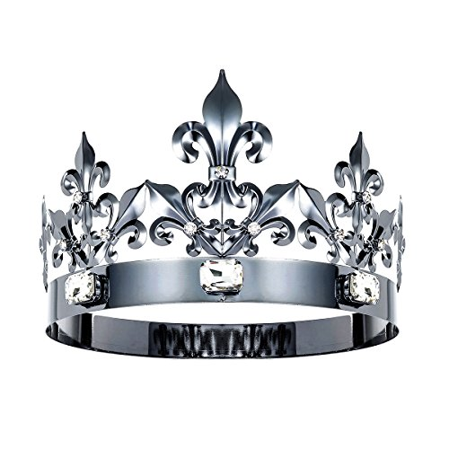 DcZeRong Queen Crown King Crowns Adult Women Men